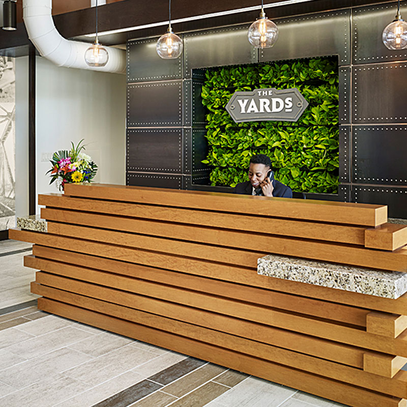 Front Desk at The Yards